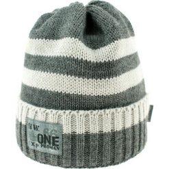 Czapka zimowa CZ 036F biało-szara r. 50-54. Białe czapeczki niemowlęce Proman, na zimę. Za 41,99 zł.
