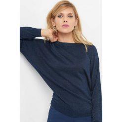 Sweter z kryształkami. Niebieskie swetry rozpinane damskie marki Orsay, xs, z dzianiny. Za 79,99 zł.
