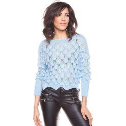 """Swetry klasyczne damskie: Sweter """"Maxime"""" w kolorze błękitnym"""