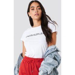T-shirty damskie: Calvin Klein T-shirt Core Institutional Logo - White