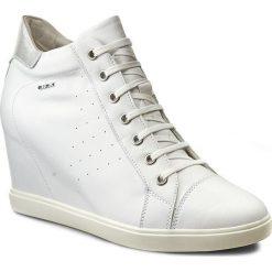 Sneakersy GEOX - D Eleni A D7267A 00085 C1000 Biały. Szare sneakersy damskie marki Geox, z gumy. W wyprzedaży za 349,00 zł.