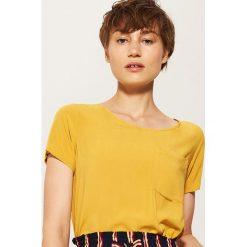 Bluzki, topy, tuniki: Bluzka z kieszonką - Żółty