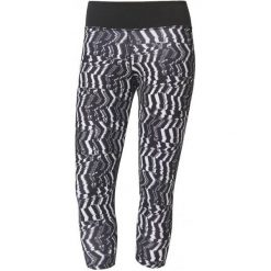 Adidas Legginsy d2m 3/4 Tigh p2 Print/Black M. Czarne legginsy skórzane Adidas, m. W wyprzedaży za 129,00 zł.