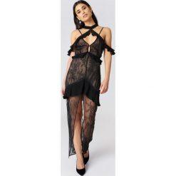 Sukienki hiszpanki: For Love & Lemons Sukienka z odkrytymi ramionami Margot – Black