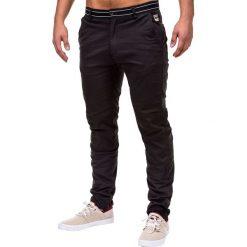 Spodnie męskie: SPODNIE MĘSKIE CHINO P156 – CZARNE