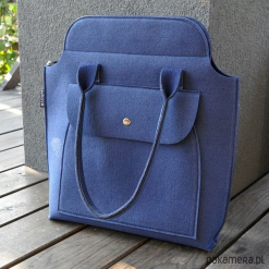 TOP GLAM - torebka na ramię - model 2 granatowa. Szare torebki klasyczne damskie Pakamera. Za 130,00 zł.
