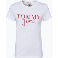 Tommy Jeans - T-shirt damski, czarny. Czarne t-shirty damskie Tommy Jeans, l, z napisami, z jeansu. Za 99,95 zł.