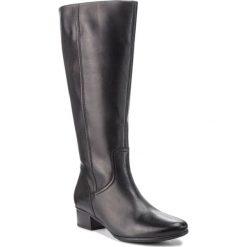 Kozaki GABOR - 75.606.27 Schwarz. Czarne buty zimowe damskie Gabor, z materiału, na obcasie. Za 759,00 zł.