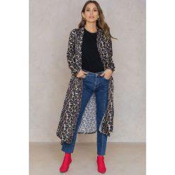 Płaszcze damskie pastelowe: Rebecca Stella Satynowy płaszcz Leo – Brown,Multicolor