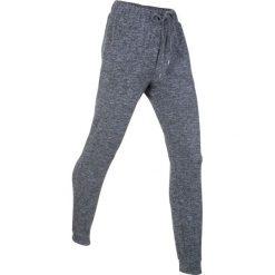 Spodnie dresowe miękkie niczym kaszmir, długie, Level 1 bonprix szary melanż. Szare bryczesy damskie bonprix, melanż, z dresówki. Za 109,99 zł.