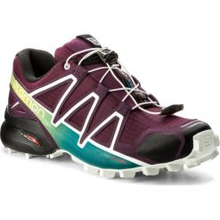 Buty SALOMON - Speedcross 4 W 401361 23 V0 Dark Purple/White/Deep Lake. Czarne buty sportowe damskie marki Salomon, z gore-texu, na sznurówki, outdoorowe, gore-tex. W wyprzedaży za 369,00 zł.