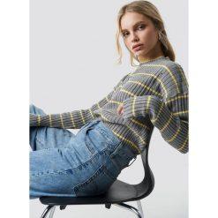 Trendyol Sweter w paski - Grey. Szare swetry klasyczne damskie marki Vila, l, z bawełny, z okrągłym kołnierzem. Za 80,95 zł.