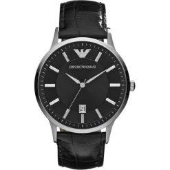Emporio Armani - Zegarek AR2411. Czarne zegarki męskie Emporio Armani, szklane. Za 899,90 zł.