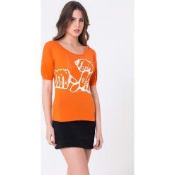 Bluzki damskie: Bluzka w kolorze pomarańczowym