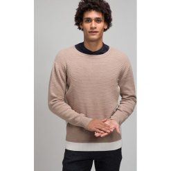Legends VERDE  Sweter sand. Szare swetry klasyczne męskie Legends, m, z bawełny. W wyprzedaży za 359,10 zł.