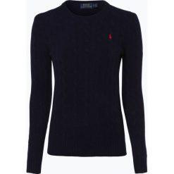 Polo Ralph Lauren - Sweter damski z mieszanki wełny merino i kaszmiru, niebieski. Niebieskie swetry klasyczne damskie Polo Ralph Lauren, m, z kaszmiru, z klasycznym kołnierzykiem. Za 659,95 zł.