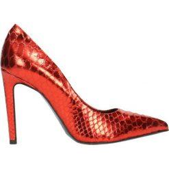 Czółenka INGRID. Czerwone czółenka Gino Rossi, ze skóry, na wysokim obcasie, na szpilce. Za 99,90 zł.