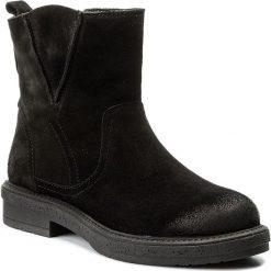 Botki NESSI - 17252 Czarny W. Czarne buty zimowe damskie marki Nessi, z materiału, na obcasie. W wyprzedaży za 269,00 zł.