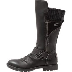 S.Oliver RED LABEL Kozaki black. Czarne buty zimowe damskie marki s.Oliver RED LABEL, z materiału, na wysokim obcasie. W wyprzedaży za 164,45 zł.