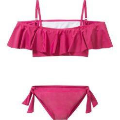 Stroje dwuczęściowe dziewczęce: Bikini dziewczęce (2 części) bonprix jeżynowo-czerwony