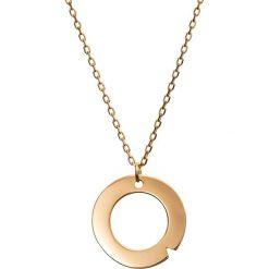 Naszyjniki damskie: Pozłacany naszyjnik z zawieszką - (D)42 cm