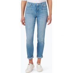 Cambio - Jeansy damskie – Pearlie, niebieski. Niebieskie spodnie z wysokim stanem Cambio, z jeansu. Za 589,95 zł.