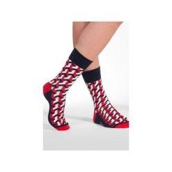 3D - kolorowe skarpetki Spox Sox. Czerwone skarpetki męskie N/A, w kolorowe wzory. Za 20,00 zł.