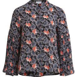 Bluzki damskie: Wzorzysta bluzka z okrągłym dekoltem i długimi rękawami