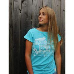 Koszulka Ogórek Błękitny. Czarne bluzki damskie marki KIPSTA, m, z elastanu, z długim rękawem, na fitness i siłownię. Za 99,00 zł.
