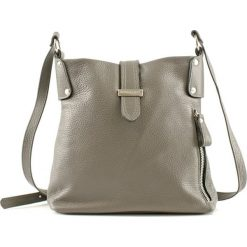 Torebki klasyczne damskie: Skórzana torebka w kolorze taupe – (S)27 x (W)27 x (G)8 cm