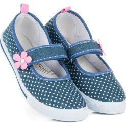 Buty dziecięce: Jeansowe trampki w grochy WHITNEY