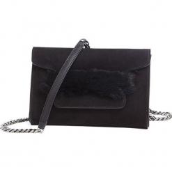 Torebka w kolorze czarnym - (S)24 x (W)16 x (G)5 cm. Czarne torebki klasyczne damskie Tosca Blu, w paski, z materiału. W wyprzedaży za 349,95 zł.