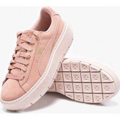 Puma - Buty Platform Trace Wn's. Szare buty sportowe damskie marki Puma, z materiału. W wyprzedaży za 399,90 zł.