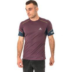 Salomon Koszulka męska Agile SS Tee Maverick bordowa r. XL (397189). Czerwone t-shirty męskie Salomon, m. Za 90,77 zł.