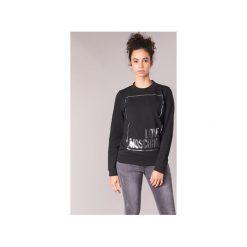 Bluzy Love Moschino  HULA. Czarne bluzy rozpinane damskie Love Moschino. Za 689,00 zł.
