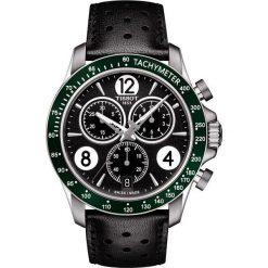 PROMOCJA ZEGAREK TISSOT V8 T106.417.16.057.00. Czarne zegarki męskie TISSOT, ze stali. W wyprzedaży za 1452,00 zł.