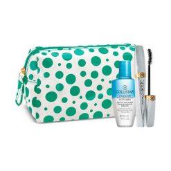 Kosmetyczki damskie: Collistar Mascara Shock Kit Zestaw dla kobiet  Tusz do rzęs 8 ml + Płyn do demakijażu Gentle Two Phase 50 ml + Kosmetyczka