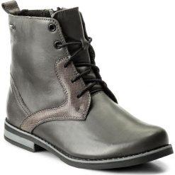 Botki HELIOS - 705 Szary B. Szare buty zimowe damskie Helios, z nubiku, na obcasie. W wyprzedaży za 219,00 zł.