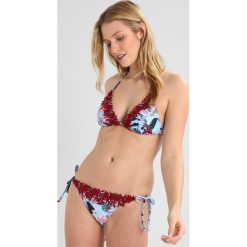 Bez Kategorii: South Beach FLORAL PRINT TRIANGLE TIE SIDE WITH DESIGN APPLIQUE Bikini light blue/wine