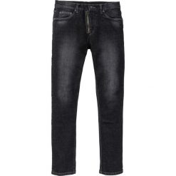 """Dżinsy Skinny Fit Straight bonprix czarny denim """"used"""". Czarne jeansy męskie relaxed fit marki bonprix, z denimu. Za 109,99 zł."""
