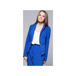 Klasyczny elegancki żakiet niebieski  H020. Czarne marynarki i żakiety damskie Harmony, xxl, biznesowe. Za 199,00 zł.