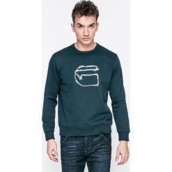 G-Star Raw - Bluza. Szare bluzy męskie rozpinane marki G-Star RAW, l, z aplikacjami, z bawełny, bez kaptura. W wyprzedaży za 199,90 zł.