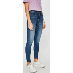 Jacqueline de Yong - Jeansy. Niebieskie jeansy damskie rurki marki Jacqueline de Yong, z bawełny, z podwyższonym stanem. Za 169,90 zł.