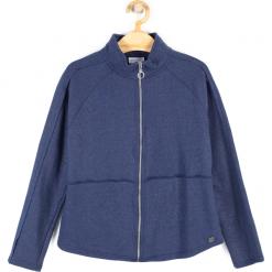 Bluza. Niebieskie bluzy dziewczęce rozpinane marki bonprix, z wełny, z długim rękawem, długie. Za 49,90 zł.