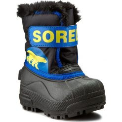 Buty zimowe chłopięce: Śniegowce SOREL – Toddler Snow Commander NV 1877 Black/Super Blue 011