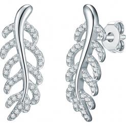 Srebrne kolczyki-wkrętki z cyrkoniami. Szare kolczyki damskie Stylowa biżuteria, z cyrkonią, srebrne. W wyprzedaży za 99,95 zł.