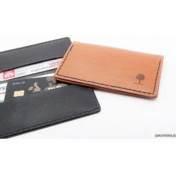 Skórzany, szyty portfel na karty - podwójny. Szare portfele damskie Pakamera. Za 119,00 zł.