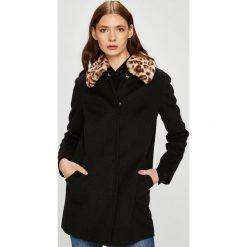 Trussardi Jeans - Płaszcz. Czarne płaszcze damskie pastelowe Trussardi Jeans, l, z acetatu. W wyprzedaży za 1099,00 zł.