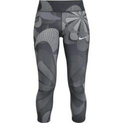 Nike Performance EPIC CROP  Rybaczki sportowe black/reflective silver. Czarne spodnie dresowe damskie Nike Performance, m, z elastanu. Za 359,00 zł.