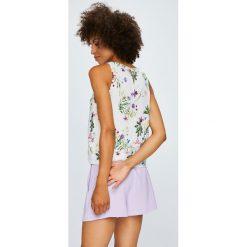 Answear - Top Violet Kiss. Szare topy damskie marki ANSWEAR, l, z tkaniny, z okrągłym kołnierzem. W wyprzedaży za 79,90 zł.
